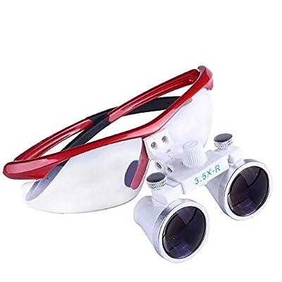 BoNew 3.5X-R Binocular Optical Dental Glass Head Loupe Surgical Surgery Flip Tool