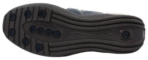 Toto - A66361 - 2,8 Pollici Più Alto - Scarpe Per Ascensore Con Altezza Crescente (scarpe Casual In Pelle Bianca E Blu)