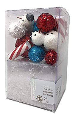 Pier 1 Candy Cane and Snow Decorative Vase Filler