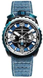 [ボンバーグ] メンズ 腕時計 クオーツ クロノグラフ 懐中時計 ポケットウォッチ ボルト68 ガン&スカイブルー BOLT-68 BS45CHPBLGM.050-3.3 デニムベルト 青 ブルー