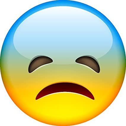 Smiley Face Emoji Sad Blue Head Wall Stickers Murals Amazon