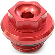 Custom CNC Oil Fill Cap for Honda Motorcycles - Red Anodized - Brand New