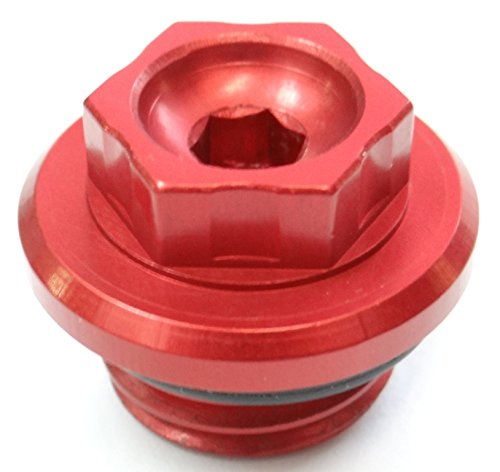 Red Anodized Custom CNC Oil Fill Cap for Honda Motorcycles Brand New