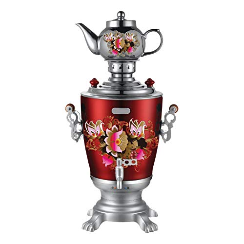 Zhongshan Jacal Electric Co., Ltd. Russian Modern Electric Samovar Teapot Set Art Design Tea Kettle Teakettle price tips cheap