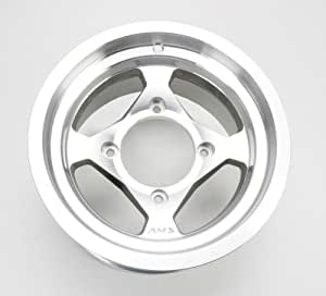 AMS Cast Aluminum Utility ATV Wheel - 12x7 - 4+3 Offset - 4/137 - Machined, Wheel Rim Size: 12x7, Rim Offset: 4+3, Bolt Pattern: 4/137, Color: Machined, Position: Rear 0021270E-MACH