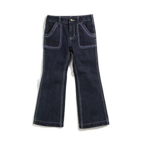 Carhartt Kid's CK9300 Washed Fashion Denim Pant - Girls - 10 Youth - Denim (Carhartt Boys Washed Denim)