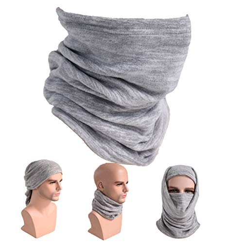 Fleece Neck Gaiter Warmer Balaclava Ski Mask Cold Weather Facemask Thermal Scarf