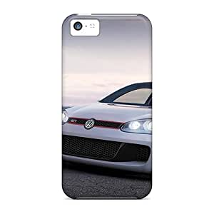 MQMshop Case Cover Protector Specially Made For Iphone 5c Volkswagen Golf W12 650