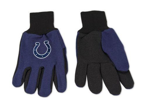 NFL Indianapolis Colts Two-Tone Gloves, Blue/Black
