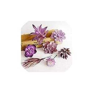 Purple Flocking Artificial Succulents Plants Bonsai Desktop Fake Plants Wedding Decoration 40 Styles Pick Up 49