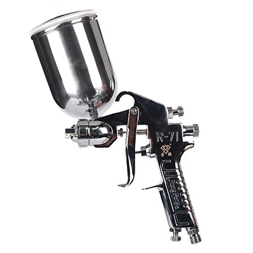 Ouya R71G Spray Gun Gravity Feed Topcoat Paint Sprayer for Furniture/Piano/Car Nozzle Size 1.3mm|400cc Aluminum Cup by Ouya