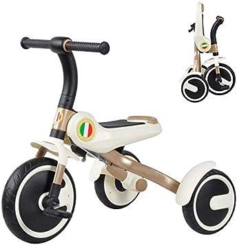 FEE-ZC Triciclo de bebé Universal con Bicicleta de Equilibrio Plegable de Pedal para niños Bicicleta de 2-5 años