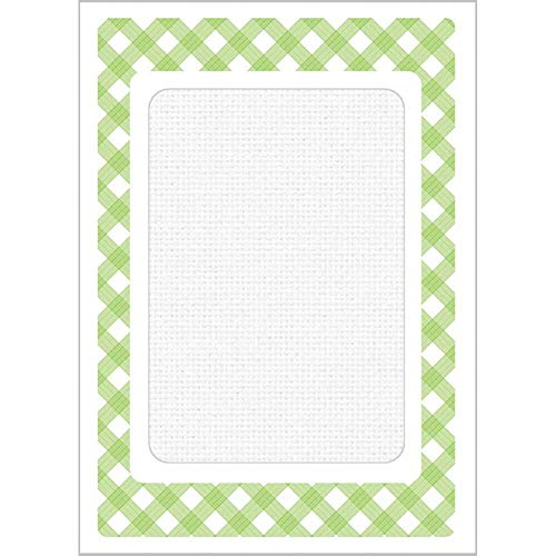 (Herrschners® Tri-fold Lime Green Cards Set/4 Counted Cross-Stitch)