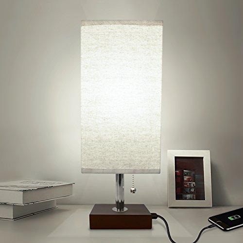 Bedside Table Lamp Usb Aooshine Modern Desk Lamp Solid