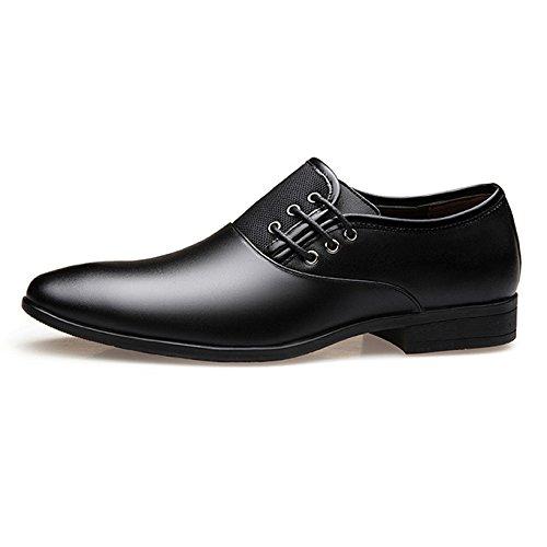Les Chaussures d'affaires des Hommes S'habillent Le Cuir d'orteil à Lacets Derby Oxford Wedding Office Casual Chaussures Plates Black mPK8m8dV