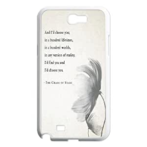Diy Beautiful Quotes Sunflower Phone Case for samsung galaxy note 2 White Shell Phone JFLIFE(TM) [Pattern-4]