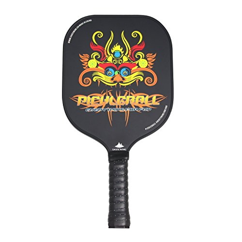 SKATEWING Pickleball Paddles With Graphite+Fiberglass Composite Surface and Aramid Honeycomb Core |Chinese Classical Culture Series【Dragon paper-cut】 (Graphite Dragon)