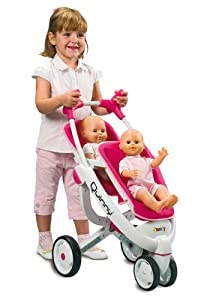 SMOBY MAXI COSI QUINNY DOLLS DOUBLE DECKER STROLLER: Amazon.co.uk ...