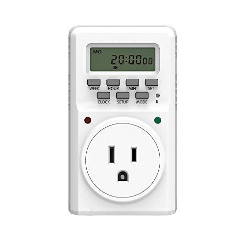 BALDR Digital Programmable Timer Socket Plug Wall Plug-in Switch Energy-Saving Outlet -