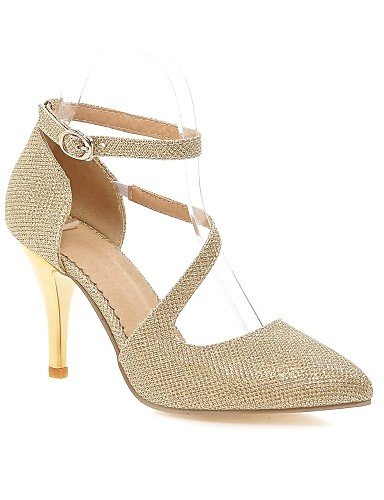 GGX/Damen Schuhe PU Stiletto Heel Heels/spitz Toe Heels Office & Karriere/Casual Silber/Gold golden-us10.5 / eu42 / uk8.5 / cn43