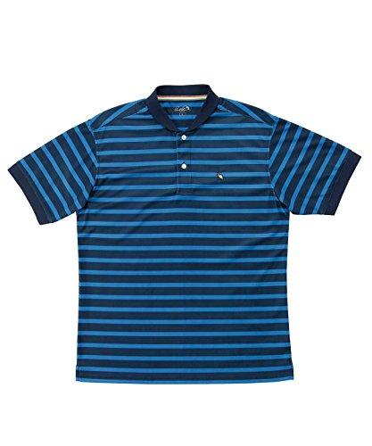 アーノルドパーマー メンズ ゴルフ ポロシャツ 半袖 ボーダーヘンリーネック半袖シャツ AP220101H04 BL/NV L
