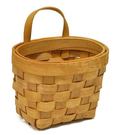 Cute Natural Woven Hanging Wall Basket 7 Inches High- 2 Baskets