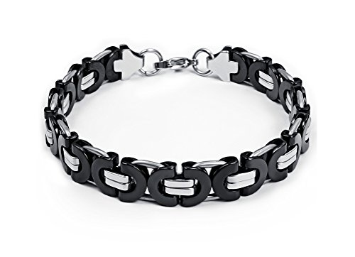 Stainless Byzantine Bicycle Bracelet Silver