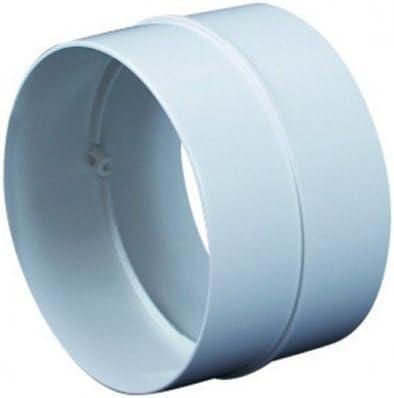 Diam/ètre : 100 mm Syst/ème de ventilation Raccord mural rond en PVC Syst/ème da/ération