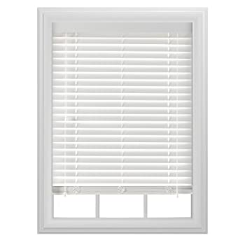 "Bali Blinds 2"" Faux Wood Corded, 27x64"", White"