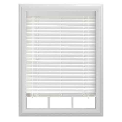 "Bali Blinds 2"" Faux Wood Corded, 35x64"", White"