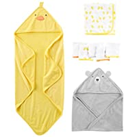 Simple Joys by Carter's Baby 8-Piece Towel and Washcloth Set, Yellow/Grey, On...