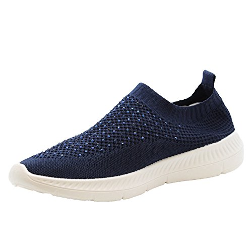 Trainers Sock Femme Styles Pour Navy Mode Baskets Blue Saute F1qnPZw