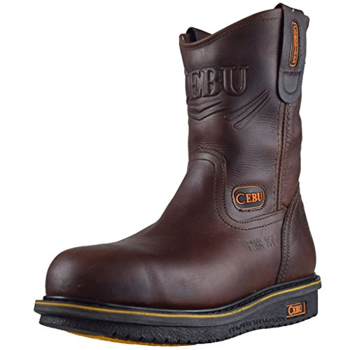 "Cebu Menns Komfort 10"" Stål-toe Arbeid Boot Brown"