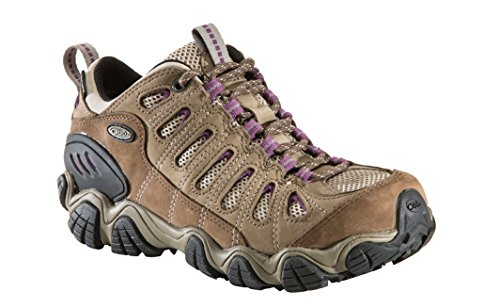 Oboz Women's Sawtooth Low Bdry Hiking Shoe,Violet,9 M US (Best Low Cost Hiking Boots)