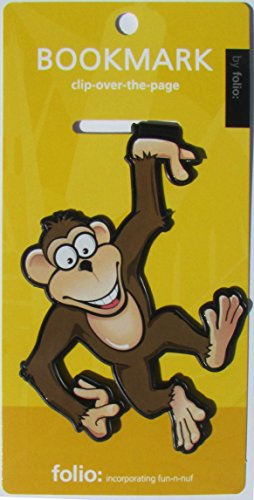Monkey Bookmarks (Clip-over-the-page) Set of 2 - Assorted colors
