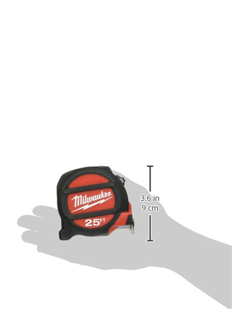 MILWAUKEE ELEC TOOL 48-22-5125 Magnet Tape Measure, 25'