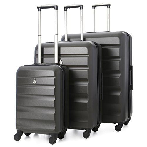 Aerolite Lightweight 4 Wheel ABS Hard Shell Travel Trolley 3 Piece Lugagge...