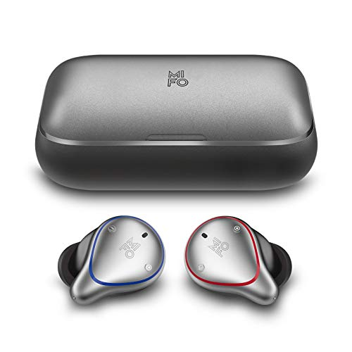 MIFO O5 True Wireless Earbuds Bluetooth 5.0 Sport Earbuds with 2600mAH Charging Case APTX Hi-Fi TWS Stereo Wireless in Ear Earphones Deep Bass Waterproof Wireless Headphones for Running, Built-in Mic