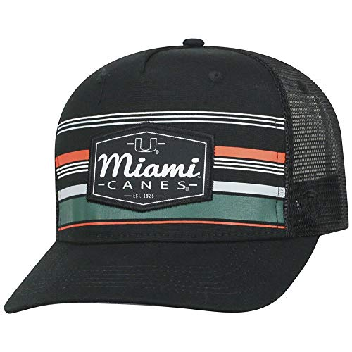 Top Hat Miami - Top of the World Miami Hurricanes Official NCAA Adjustable Route Mesh Trucker Hat Cap Curved Bill 391724