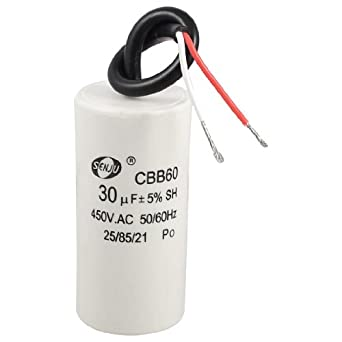 2 wired cord 30uf 450vac 50 60hz cbb60 motor for Capaca motor running capacitor