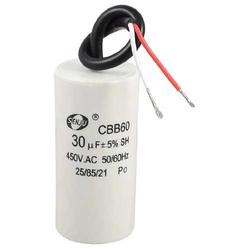 2 wired cord 30uf 450vac 50 60hz cbb60 motor run capacitor for Capaca motor running capacitor