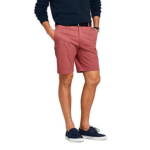 (Lands' End Men's 9 Inch Classic Fit Stretch Knockabout Chino Shorts, 38, Nautical)