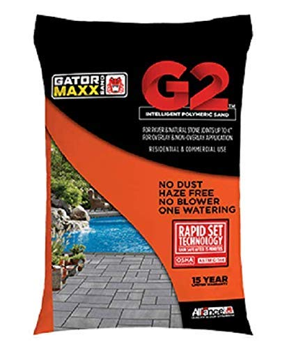 "Alliance Gator Maxx G2 Intelligent Polymeric Sand for Paver and Natural Stone Joints UP to 4""(Beige) 50 Lb Bag"