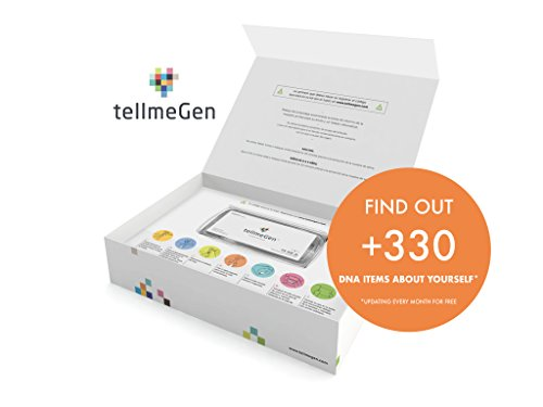 DNA Test Kit tellmeGen - 390+ Reports - Health Predisposition - Ethnicity (Ancestry DNA Composition) - Genetic Carrier Status - Personal & Wellness Traits That Make You Unique