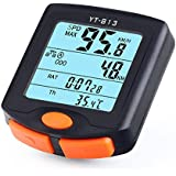 morningw Bicycle Speedometer Odometer Waterproof Wireless/Wired Stopwatch Multi-Functions with LCD Display,Backlight,Temperature Cycle Bike Computer Tracking Distance and Speed Time for Cycling