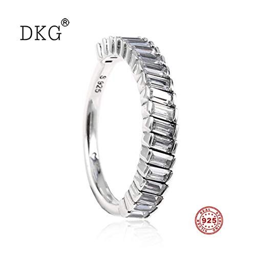 2019 New 925 Sterling Silver Glacial Beauty Ring Ice Wwith Crystal Rings Fits for Women Wedding Ring DIY Jewelry Gift - Glacial Ice Crystal