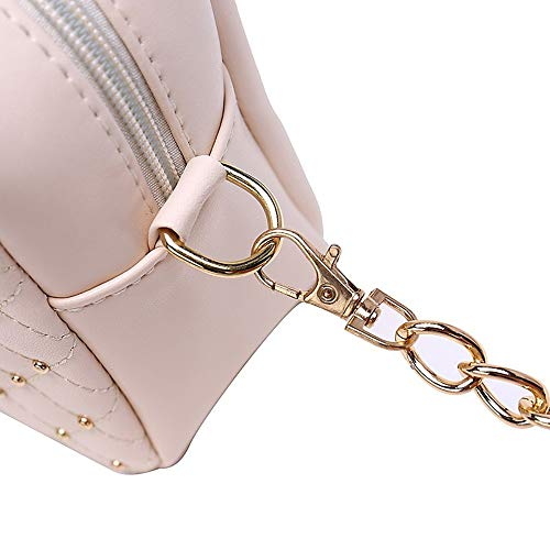 Femmes Sac Body Bag Pink À Sacs à blanc À Blushing Sacs À PU main sac Purplecross Main Noir Dos Bandoulière QZTG pour Perles Crossbody Sacs UwX86