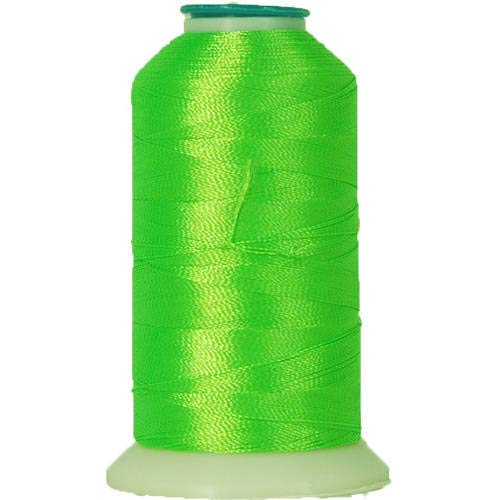 Threadart Polyester Machine Embroidery Thread By the Spool - No. 950 - Neon Green - 1000M - 220 Colors Available