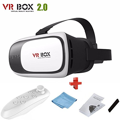Young Cardboard 2nd VR BOX Virtual Reality 3D Glasses Bluetooth Remote Control