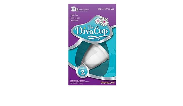 DivaCup Model 2 - Copa menstrual (tamaño grande): Amazon.es ...